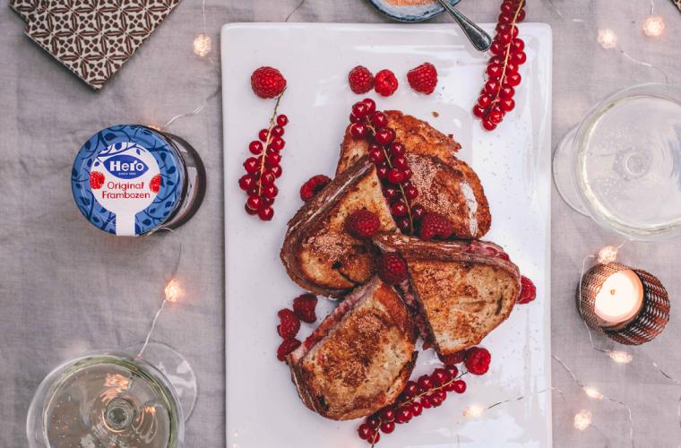 Stuffed French Toast with Hero Black Cherry