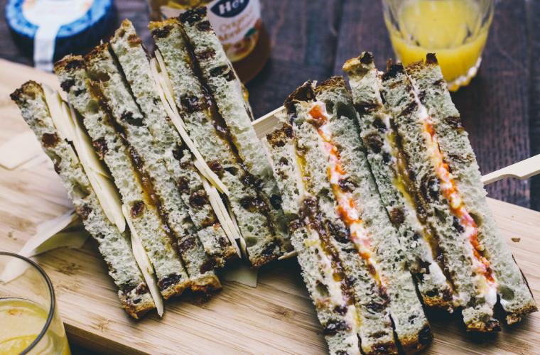 Sweet Club Sandwich with Hero Apricot Jam