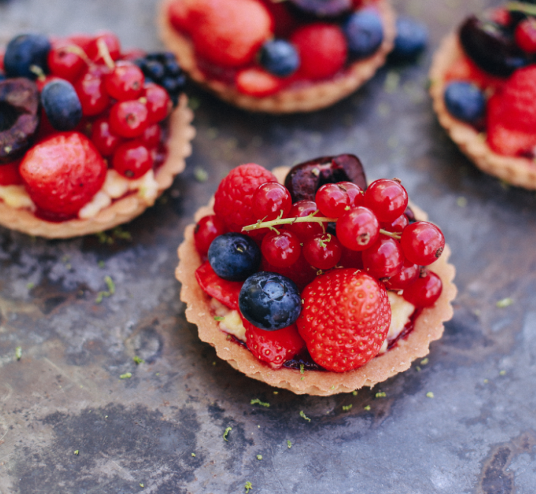 Fruit Tarts with Hero Red Raspberry